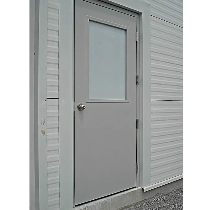 puerta comercial metlica